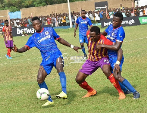 Hearts of Oak struck twice in 4 minutes through substitute Benard Arthur and Kofi Kordzi