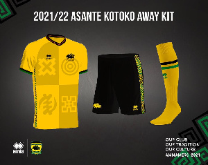 The yellow kit is the club's away jersey for the upcoming season