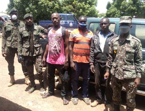 The three Burkinabes were arrested in the Upper West region