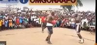 Bukom Banku fighting with Lil Win