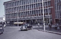 The iconic building is located in the sprawling Central Business District of Accra