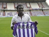 Ghanaian midfielder Ismail Abdul Razak during his time in the Segunda division in Spain