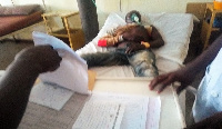 One of the affected miners at the Upper East Regional Hospital