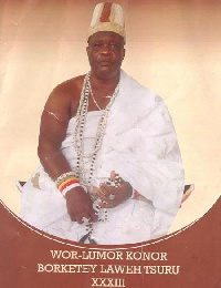 Numo Borketey Laweh Tsuru XXXIII, Overlord of Ga State