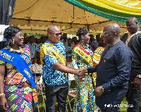 Vice President Dr. Mahamudu Bawumia interacting with some Teachers