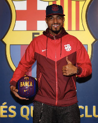 Boateng becomes the first Ghanaian to play for Barcelona