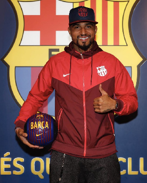 KP Boateng will hope to impress at Barcelona