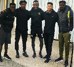 Five Right to Dream Academy graduates reunite after league match in Sweden