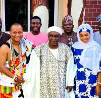 Zaeem Sheikh Abdul, his entourage at Sempe Muslim Akwashongtse's residence