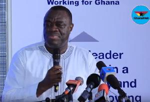 Mohammed Ibrahim Awal, Business Development Minister delivering his speech