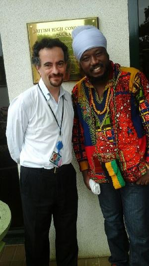Blakk Rasta with Jon Benjamin, UK High Commissioner to Ghana