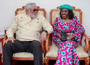 The late former President Jerry John Rawlings with wife