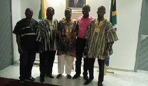 Ghana's High Commission with National Hockey Team