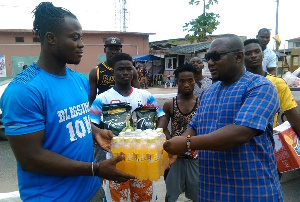 GWF has distributed assorted food items to its weightlifters