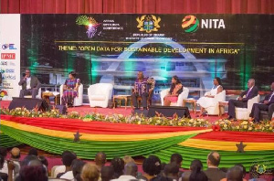 Nana Addo joining a forum at the information conference