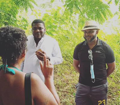 Yaw Ampofo Ankrah (right) with the DCE for Okere
