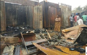 The fire burnt down about five shops including a mini-restaurant