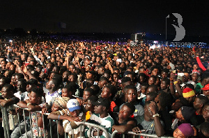 Fans at Stonebwoy's Peace Concert