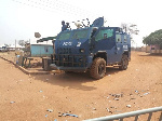 Angry youth of Amanase in the Ayensuano have damaged a police vehicle