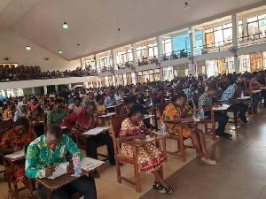 Teachers at GES exam centres