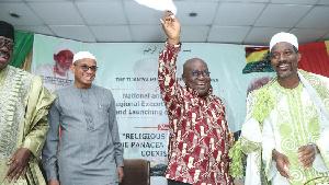 President Akufo-Addo graced the inauguration of the Tijanniya Muslim Council of Ghana