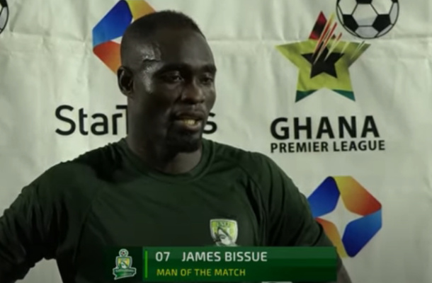 Elmina Sharks player, James Bissue has got the whole world talking about his goal