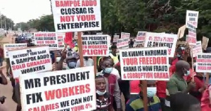 The aggrieved workers are demanding a 25% increment