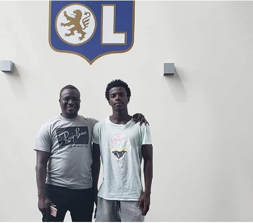 Emmanuel Danso with his agent
