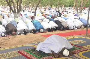 Congregational prayers have been temporarily banned due to the ban on social gathering