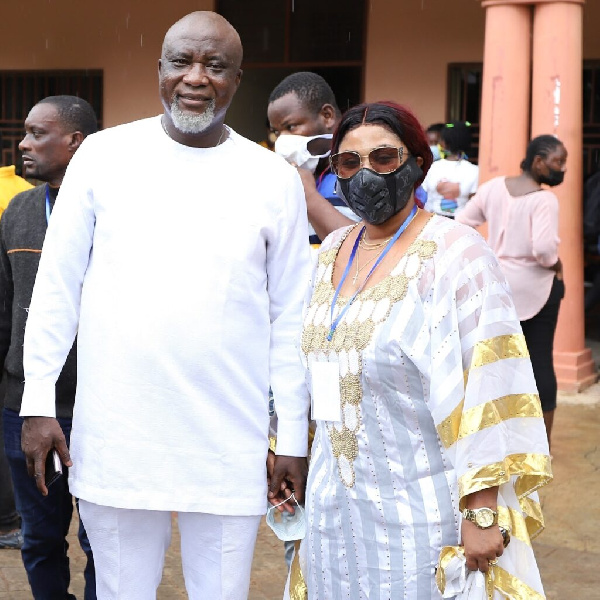 Politician, Hopeson Adorye with wife Gifty Adorye