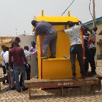 Some NABCO recruits mounting an NLA E-kiosk