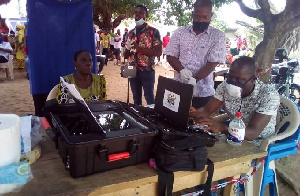 Some EC officials registering voters in Ketu South
