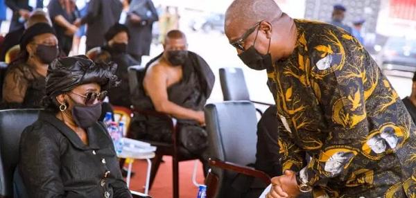 Mahama consoles Konadu at Rawlings' funeral