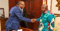 President Nana Akufo-Addo with Dr Ernest Addison