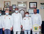 NPC-Ghana members with Mustapha Ussif, and sponsors Amanda Zhang Suzhen and Yao Antai