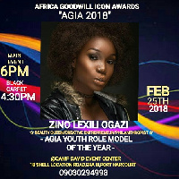 Zino will be honored as Youth Role model of the year at the Africa Goodwill Icon Awards