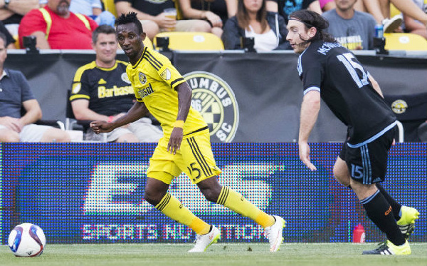 Harisson Afful in action for Crew SC