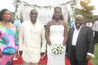 Flashback: Kwabena Kwabena, wife with Prez Akufo-Addo and First Lady Rebecca