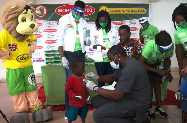 John Dumelo showed his support by being present & expressing the importance of deworming
