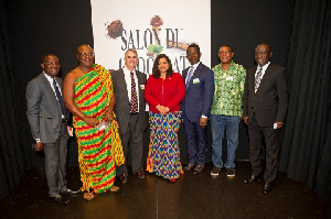 Award winners pose for a photo with Dr. Stephen Opuni (3rd from right) - CE of COCOBOD- and others
