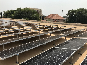 60% of power used by the Jubilee House will be provided by solar by June this year
