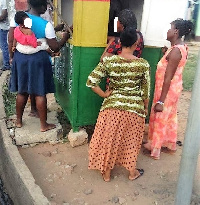 women in queue to stake lotto