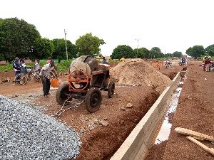 Construction of major drains on the road has so far commenced as part of the road project