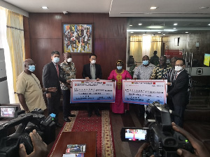 The two companies, Sunon Asogli Power and AWA, have offered to donate US$100,000 each