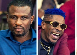 Combination photo of Okraku Mantey (left) and Shatta Wale