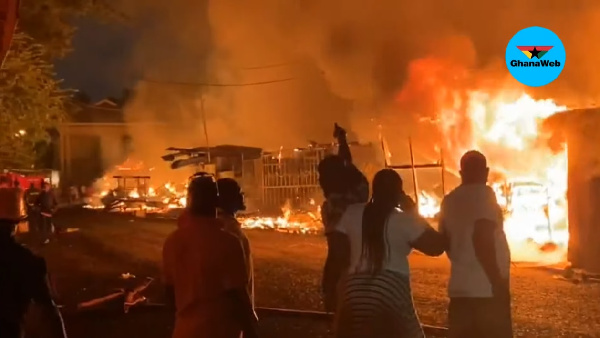 Fire destroys properties at Shiashi on Friday night
