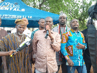 Haruna Iddrisu addressing the Duunyin community