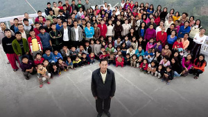 Zionnghaka Chana and part of his family