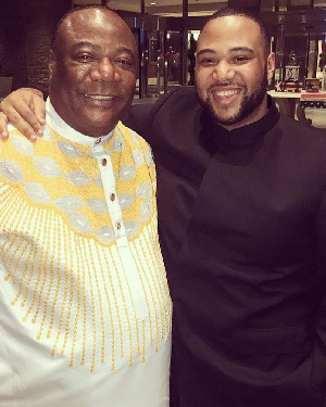 Daniel Duncan-Williams with his father, Archbishop Duncan-Williams