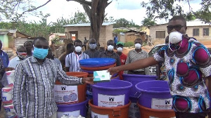 West Rock Quarries has donated items to some communities in the Anto-Abosu Electoral Area